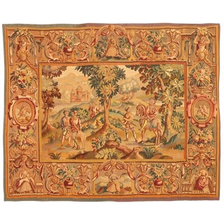 Antique Extremely Finely Woven 19th Century French Tapestry