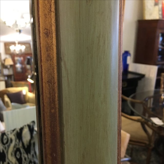 Green & Gilt Wall Mirror - Image 8 of 9