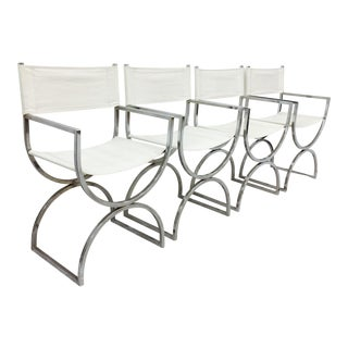 Vintage Mid-Century Modern Chrome Chairs - Set of 4