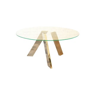 Roche Bobois Dining Table W/ Mirrored Legs