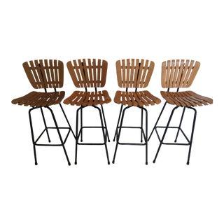 Arthur Umanoff Style Mid-Century Bar Stools - Set of 4