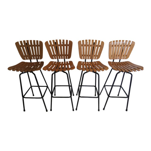 Arthur Umanoff Style Mid-Century Bar Stools - Set of 4 - Image 1 of 8