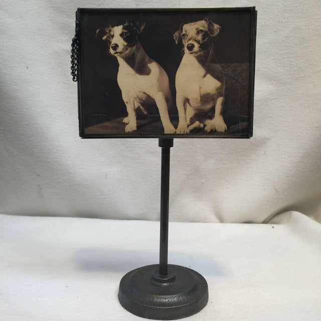 Image of Vintage Metal Standing Picture Frames - Set of 4