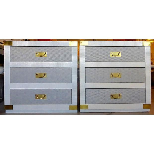 Gray & White Nightstand Chests - A Pair - Image 2 of 8