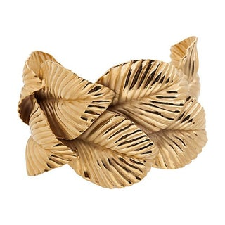 Goldtone Leaf Cuff Bracelet