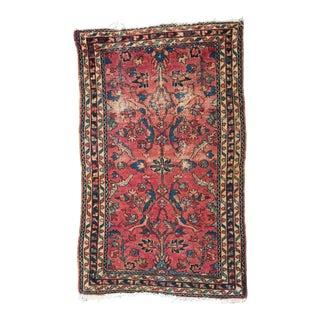 """Antique Persian Lilihan Rug Feat. Birds - 2'6""""x4'"""