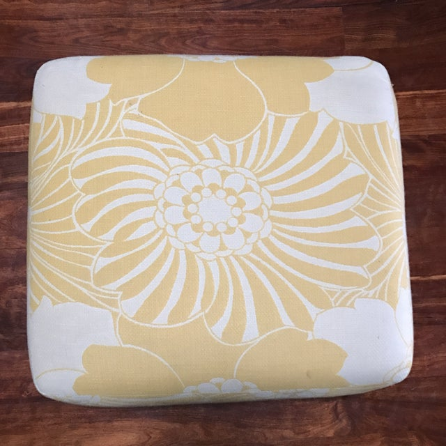 Yellow Floral Floor Cushion - Image 3 of 6