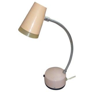 Pink Mid-Century 1960s Task Lamp