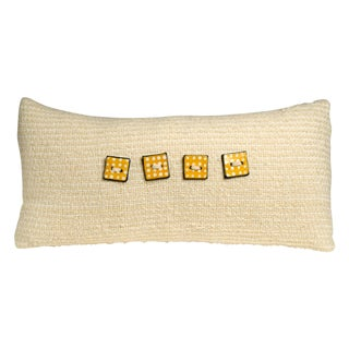 Ivory Hand-Woven Pillow