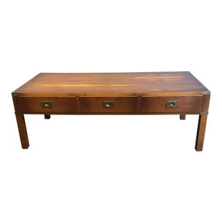Ethan Allen English Campaign Coffee Table