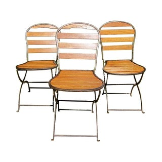 Folding '40s French Bistro Chairs - Set of 4