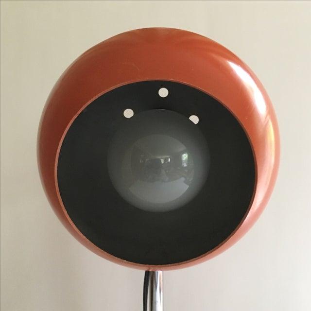 Orange Vintage Mid-Century Eyeball Lamp - Image 6 of 8