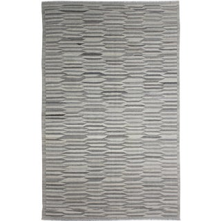 Hand Knotted Modern Kilim Rug - 9′1″ × 12′3″