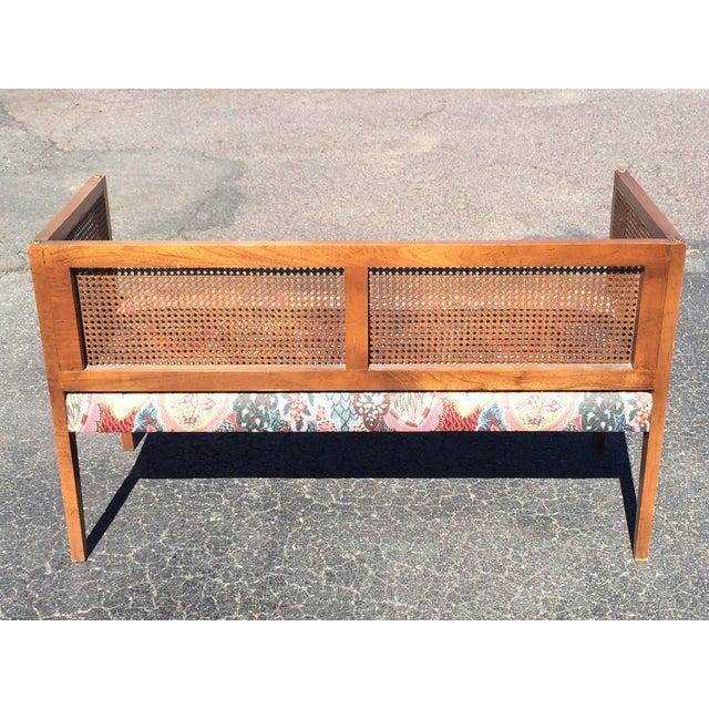 Image of Mid-Century Regency Cane Settee Bench