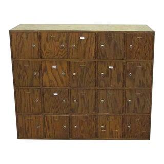 Antique Wooden Locker Unit