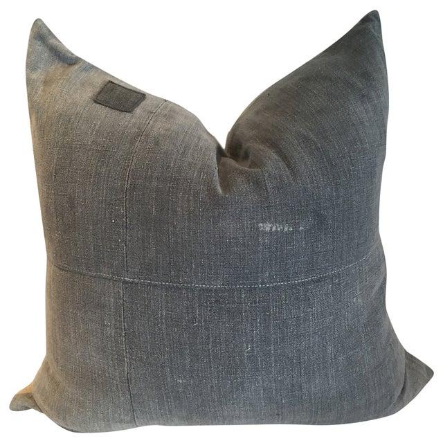 Image of Vintage Batik Grey Pillow