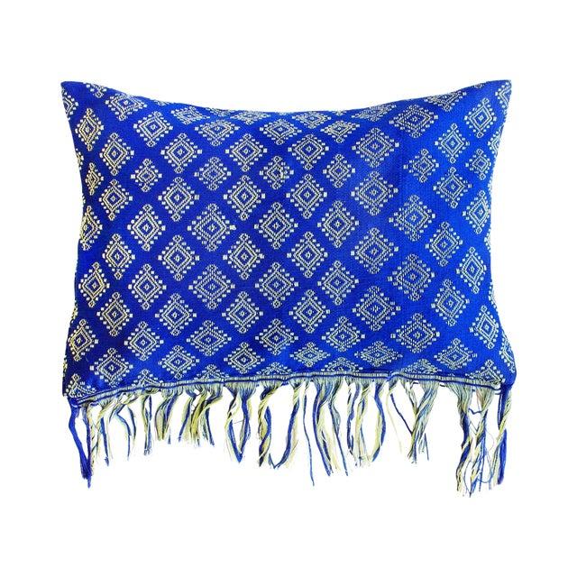 Image of Indigo Ikat Pillow Cover, Indigo Boho Pillows
