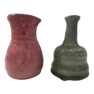 Studio Pottery Bud Vases - A Pair