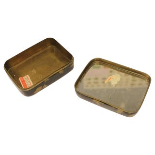 Pair Of Antique Chinese Decorative Tortoise Shell Overlay Boxes