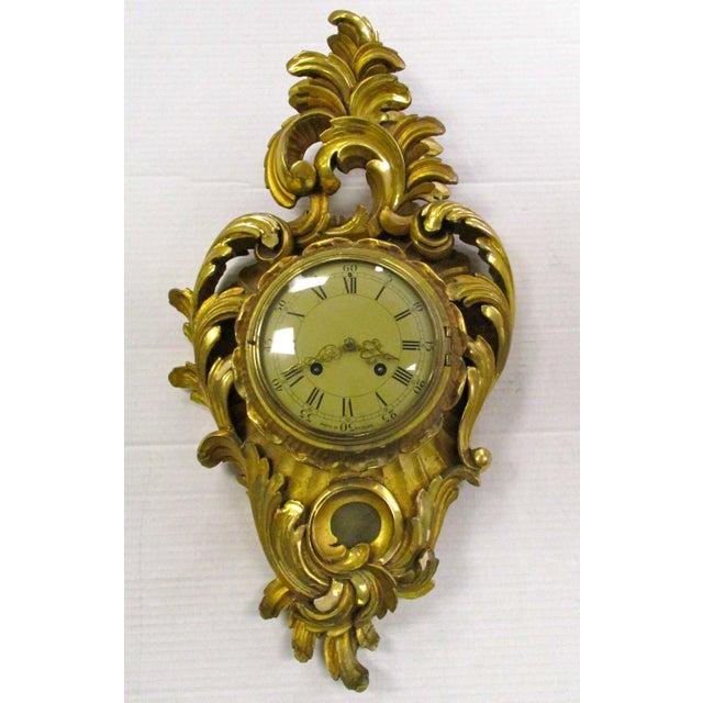 Antique Swedish Gold Gilt Wall Clock Chairish