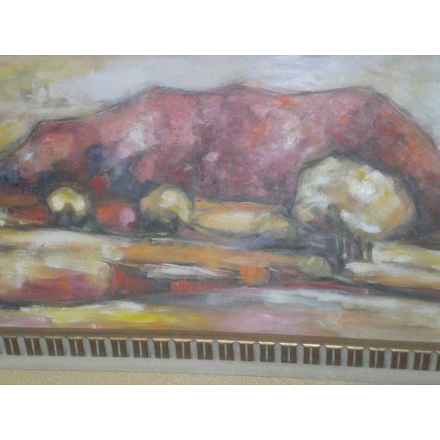 Image of Original Vintage Oil Painting of Desert Landscape