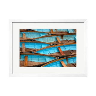 "Eugene Fang ""Blue Boats"" Framed Photo Print"
