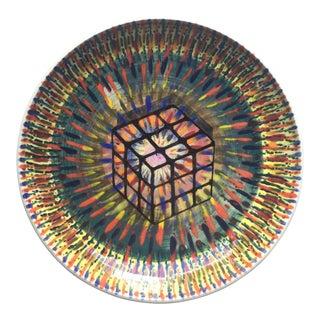 "Mauro Soggiu ""Easy Rubik"" Ceramic Plate"