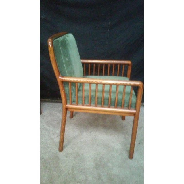 Ward Bennett for Brickel Teak Suede Chairs - A Pai - Image 5 of 7