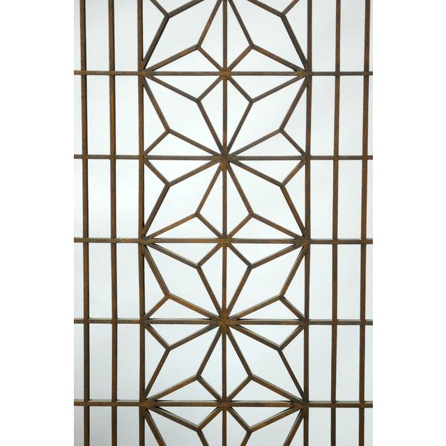 Mid-Century Six Panel Folding Geometric Screen - Image 4 of 6