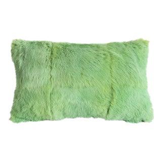 Mint Green Fur Pillow