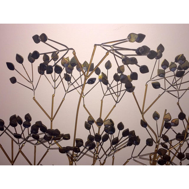 Image of C. Jere 'The Elms' Gold Metal Wall Sculpture