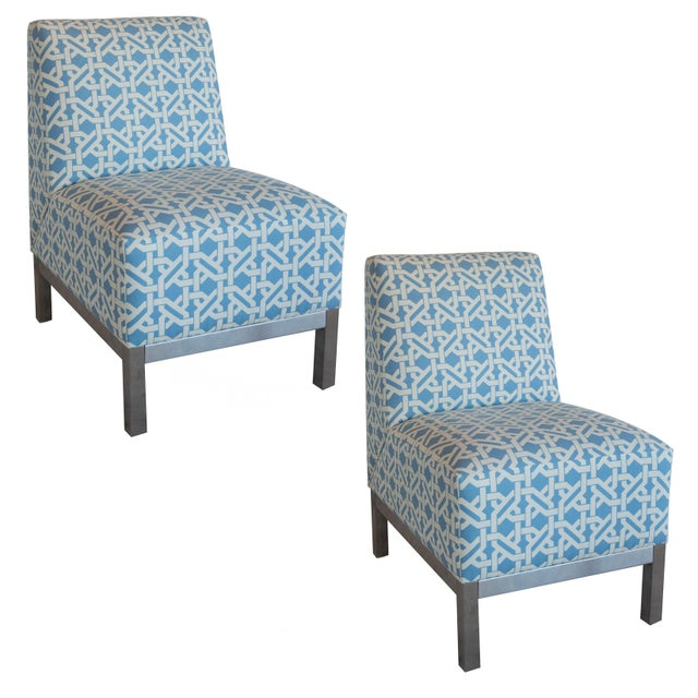 Pair of Modern Slipper Chairs - Image 6 of 6