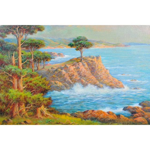 1935 Andreas Roth Carmel Coastline Oil Painting - Image 2 of 9