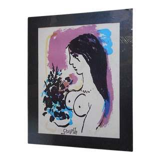 Vintage Chagall Lithograph - Nude