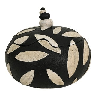 Black & White Lidded Jar