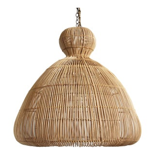 Rattan Mushroom Lantern Medium