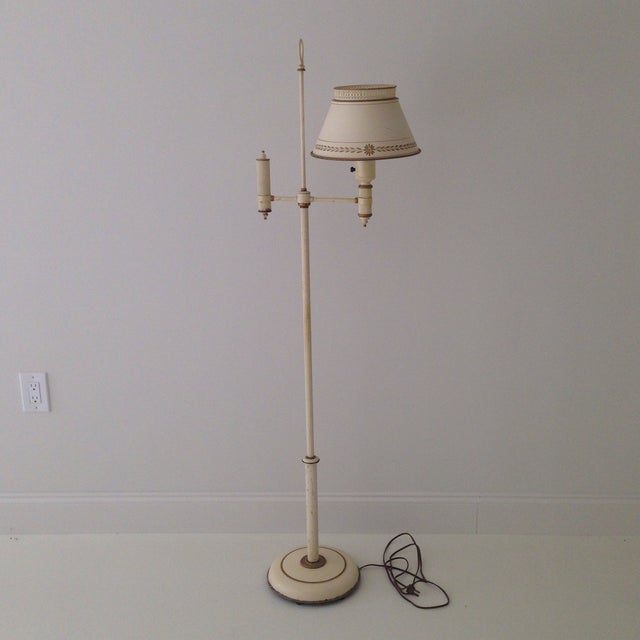 Image of Off-White Tole Floor Lamp