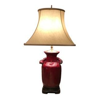 Oxblood Red Glazed Ceramic Lamp