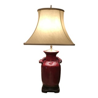 Oxblood Red Glazed Ceramic Lamp