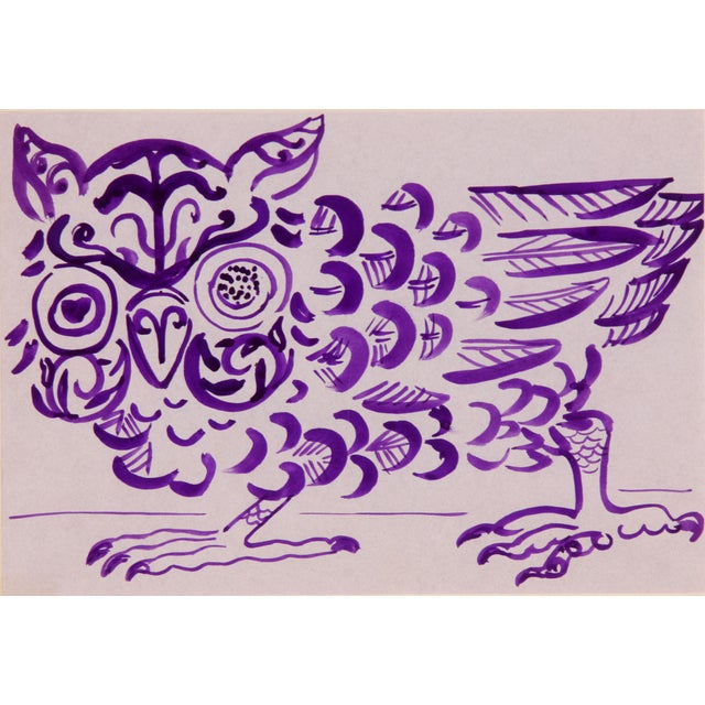 Purple Owl Painting by Phillip Callahan - Image 3 of 5