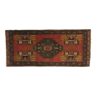 Nomadic Vintage Anatolian Oushak Area Rug - 1′6″ × 3′6″