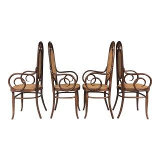 Thonet Cane & Wood Chairs - Set of 4