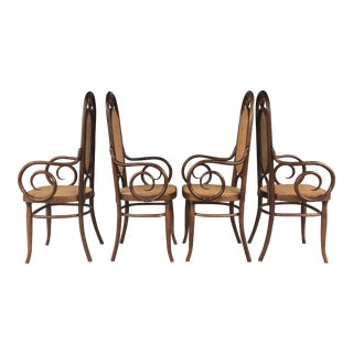 Thonet Cane & Wood Chairs - Set of 4
