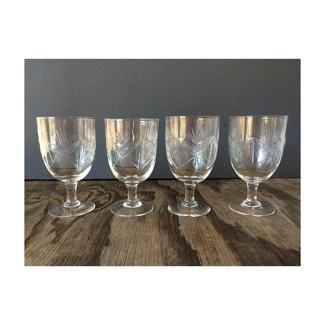1940s Etched Wine Glasses/Goblets - Set of 8 - Image 5 of 6