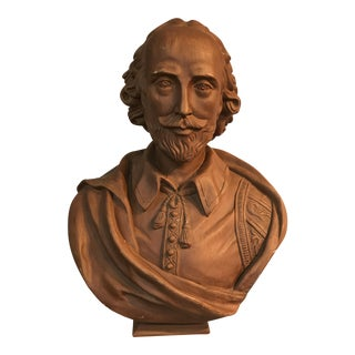 Vintage Chalkware Shakespeare Bust