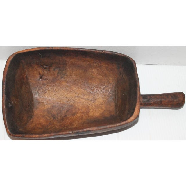19th Century Original Old Surface Hand-Carved Scoop - Image 4 of 10
