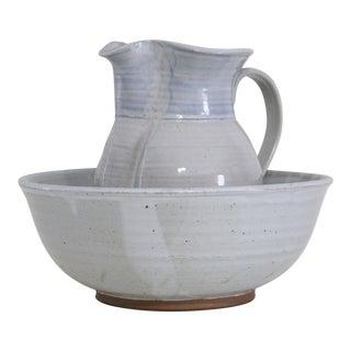 Handmade Pitcher & Wash Basin - A Pair