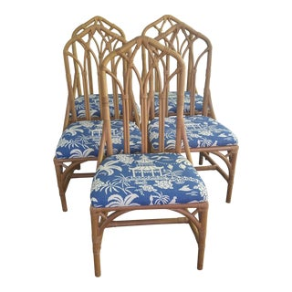 Henry Link Rattan Dining Chairs- Set of 5