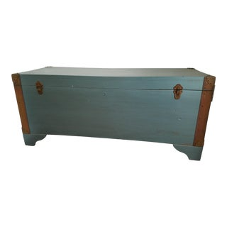 Vintage World War-Era Refurbished Trunk