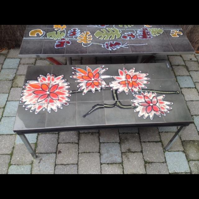 Vintage 1960s Belgian Tiled & Chrome Coffee Table - Image 2 of 6